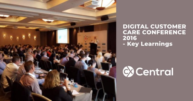 Digital Customer Care Conference 2016 Key Learnings