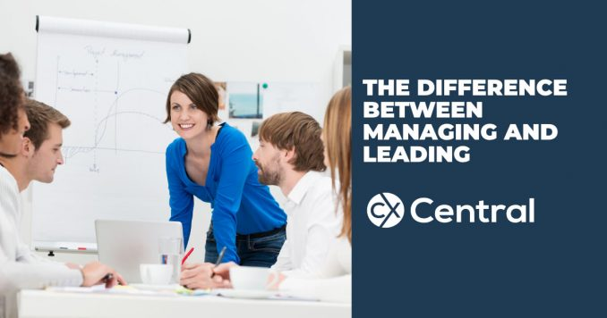 The difference between Leading versus managing at work