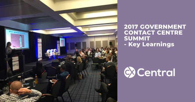 2017 Government Contact Centre Summit Key Learnings