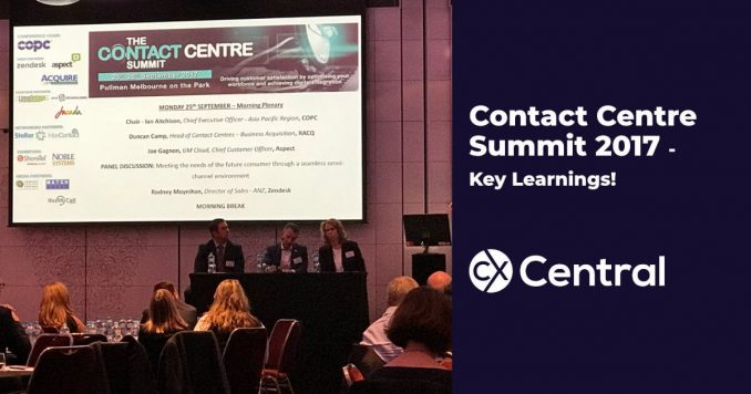 Contact Centre Summit 2017 Key Learnings