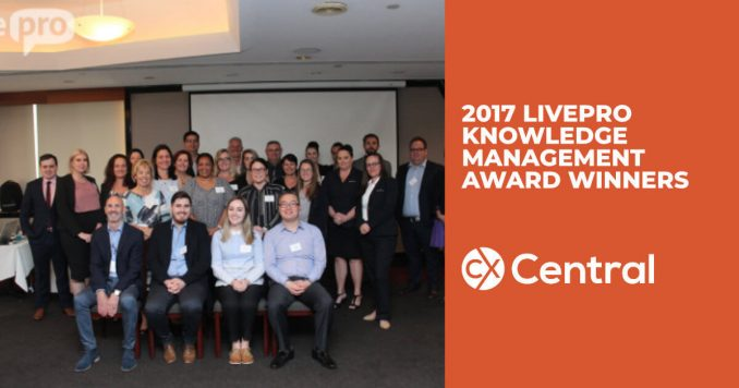Livepro 2017 Knowledge Management Excellence Award winners
