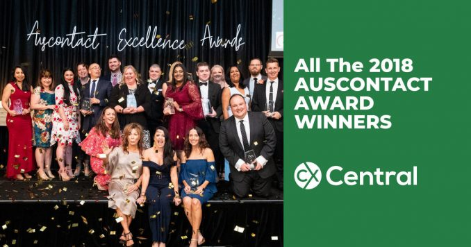 All the 2018 Auscontact Award winners